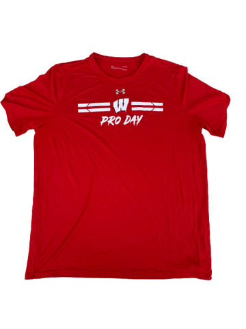 "A.J. Taylor Wisconsin Player Exclusive ""Pro Day"" Shirt (Size L)"