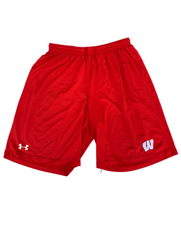 A.J. Taylor Wisconsin Team Issued Workout Shorts (Size L)
