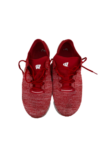 A.J. Taylor Wisconsin Team Issued Under Armour Shoes (Size 12)