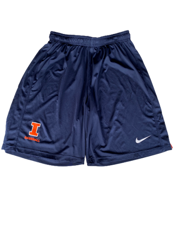 Ty Weber Illinois Baseball Team Issued Shorts (Size XL)