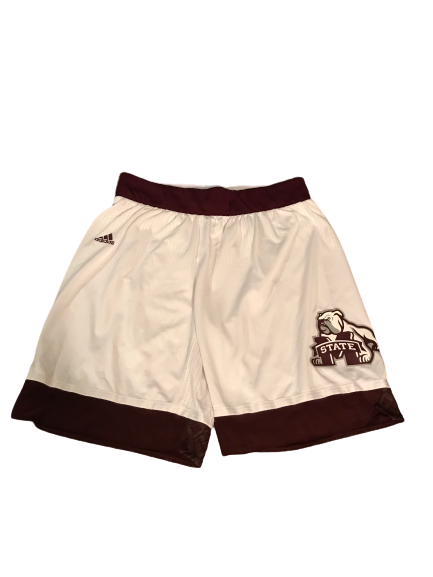 Robert Woodard II Mississippi State Basketball Game-Worn Shorts (Size XL +2 Length)