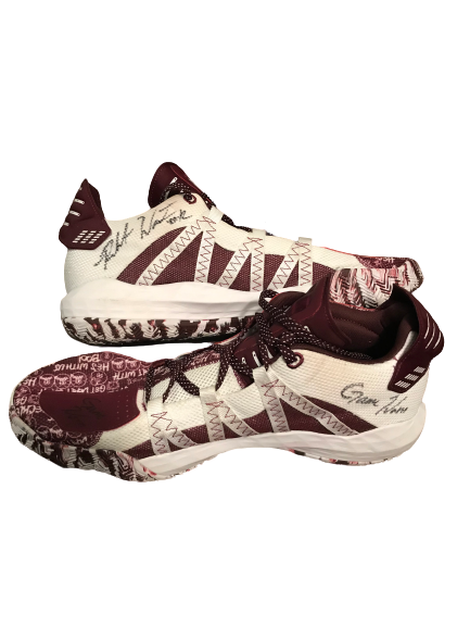 Robert Woodard II Mississippi State Basketball Signed Game-Worn Sneakers (2/15/20)