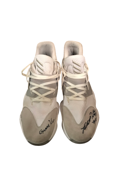 Robert Woodard II Mississippi State Basketball Never Forget Tribute Classic Signed Game-Worn Sneakers (12/14/2019)