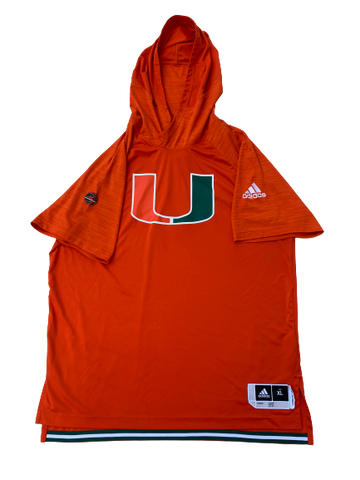 Kamari Murphy Miami Player Exclusive Short Sleeve Hoodie Game Warm-Up (Size XL)