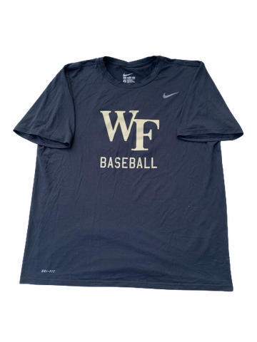 Tyler Witt Wake Forest Team Issued Workout Shirt with Number on Back (Size XL)