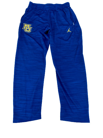 Sacar Anim Marquette Basketball Team Issued Travel Sweatpants (Size L)