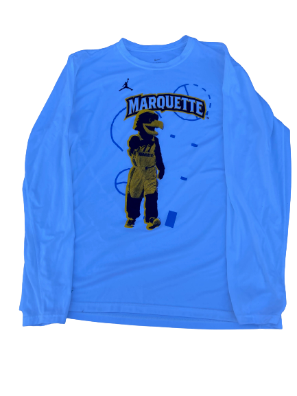 Sacar Anim Marquette Basketball Team Issued Long Sleeve Shirt (Size L)