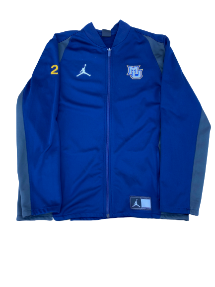 Sacar Anim Marquette Basketball Player Exclusive Travel Jacket with Number on Sleeve (Size L)