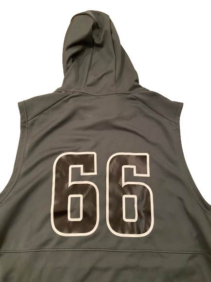 Nik Urban Northwestern Football Player Exclusive Sleeveless Hoodie with Number (Size XXL)