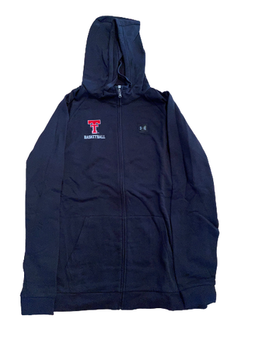 Tommy Hamilton Texas Tech Basketball Under Armour Zip-Up Jacket With Hood (Size XXLT)