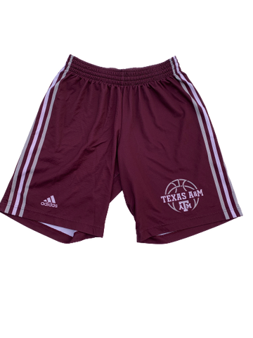 Wendell Mitchell Texas A&M Team Issued Practice Shorts (Size M)