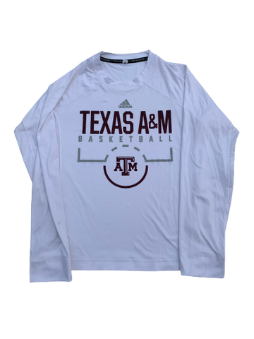 Wendell Mitchell Texas A&M Team Exclusive Long Sleeve Game Warm-Up Shirt (Size M)
