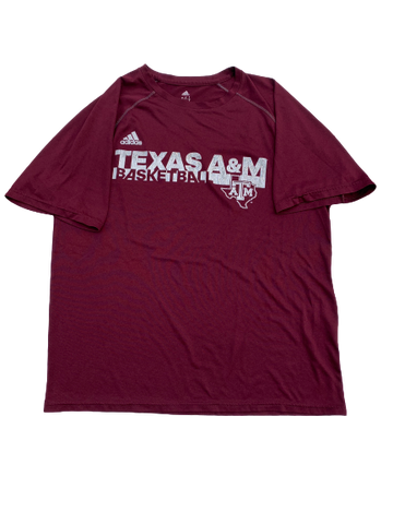 Wendell Mitchell Texas A&M Team Issued Workout Shirt (Size M)