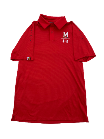 Anthony Cowan Maryland Team Issued Polo Shirt (Size S)