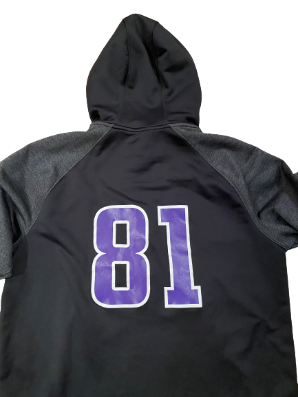 Ramaud Chiaokhiao-Bowman Northwestern Football Player Exclusive Half-Zip Pullover with Number on Back (Size XL)