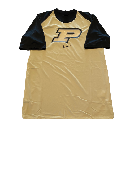 Ryan Cline Purdue Basketball Pre-Game Warm-Up Short Sleeve Shooting Shirt (Size LT)