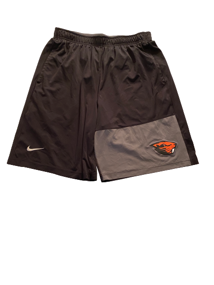 Grant Gambrell Oregon State Baseball Team Issued Workout Shorts (Size L)