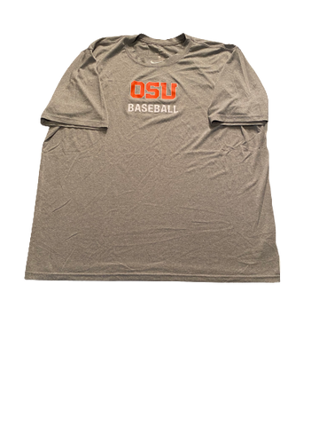 Grant Gambrell Oregon State Baseball Team Issued Workout Shirt (Size XXL)