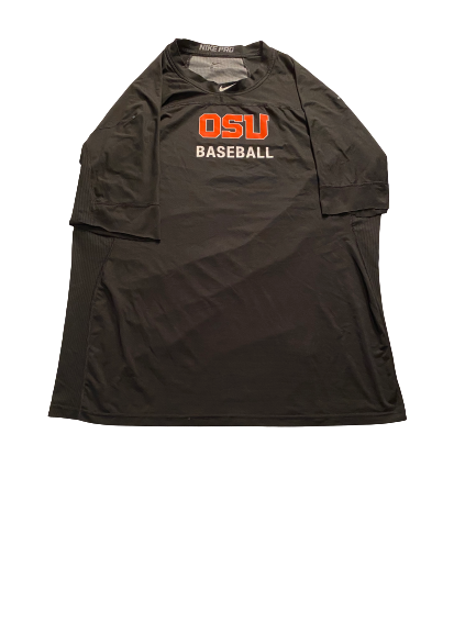 Grant Gambrell Oregon State Baseball Hand-Cut Workout Shirt (Size XXL)