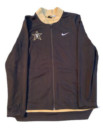 Simi Shittu Vanderbilt Basketball Nike Pre-Game Warm-Up Jacket (Size XL)