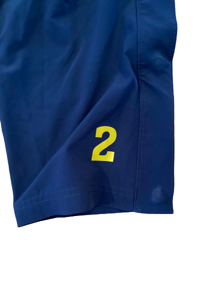 Sacar Anim Marquette Basketball Player Exclusive Snap-Button 3/4 Warm-Up Pants with Number(Size L)