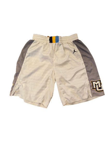 Sacar Anim Marquette Basketball 2019-2020 Game Worn Shorts (Size 38)