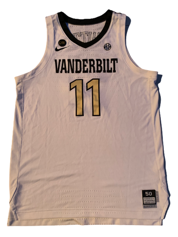Simi Shittu Vanderbilt Basketball 2018-2019 Season Game-Worn Jersey (Size 50)(Photo Matched)