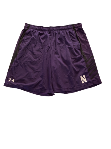 Alex Miller Northwestern Football Workout Shorts (Size XXL)