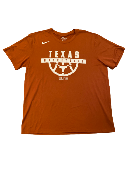 Joe Schwartz Texas Basketball Team Issued Workout Shirt (Size XL)