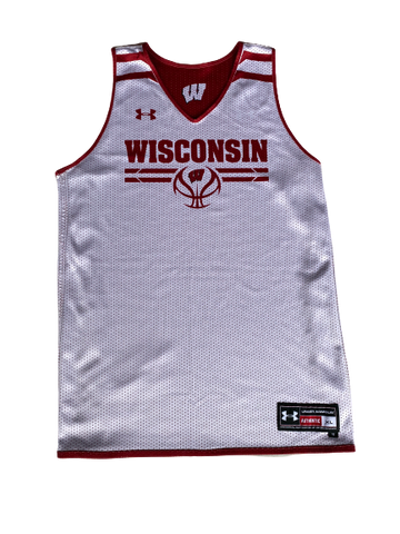 Khalil Iverson Wisconsin Under Armour Reversible Practice Jersey