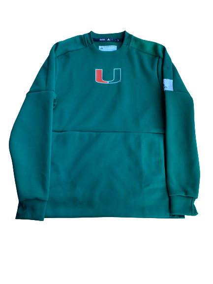 Slade Cecconi Miami Baseball Team Issued Crewneck Sweatshirt (Size L)