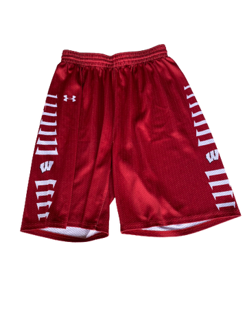 Khalil Iverson Wisconsin Under Armour Practice Shorts (Size L)