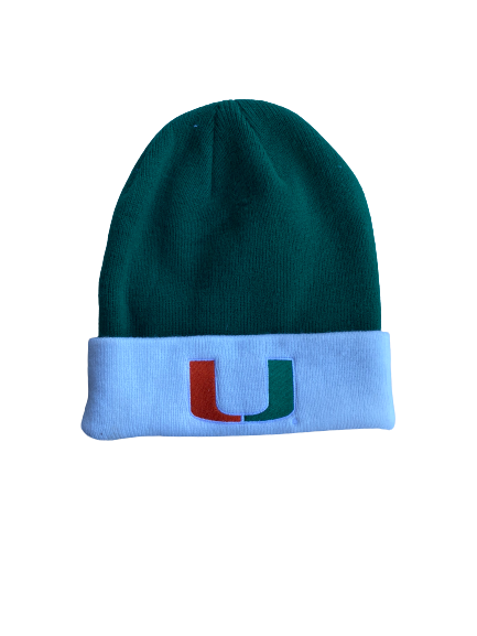 Slade Cecconi Miami Baseball Team Issued Beanie Hat