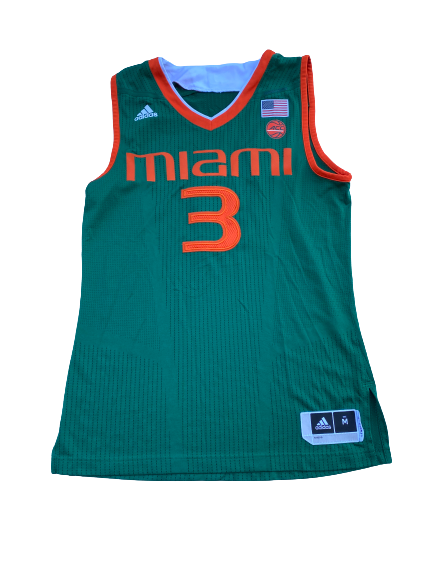 Anthony Lawrence Miami Basketball Game Worn Jersey (Size M)