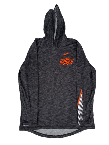 Kaden Polcovich Oklahoma State Team Issued Long Sleeve Hoodie (Size M)