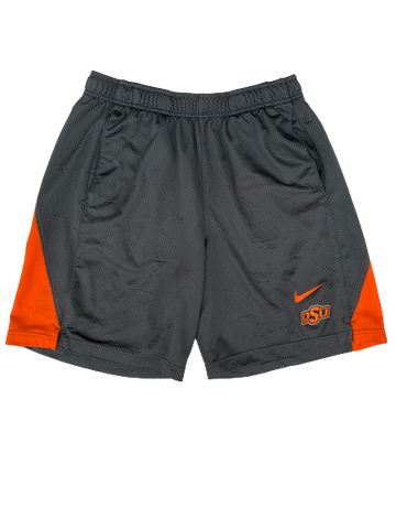 Kaden Polcovich Oklahoma State Team Issued Workout Shorts (Size L)