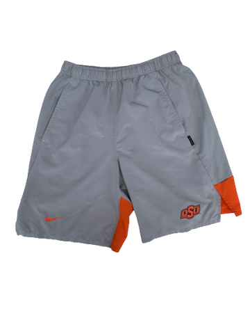 Kaden Polcovich Oklahoma State Team Issued Workout Shorts (J.T. Mounce Tag) (Size M)