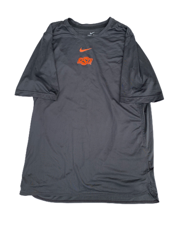 Kaden Polcovich Oklahoma State Team Issued Workout Shirt (Size L)
