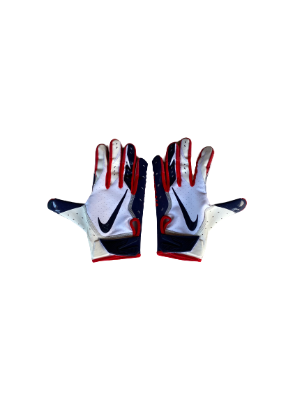 Malcolm Holland Arizona Football Nike Gloves (Size L)
