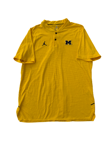 Michigan Basketball Team Issued Jordan Polo Shirt (Size L)