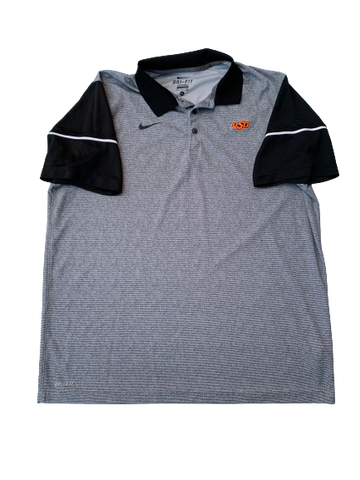 Kaden Polcovich Oklahoma State Team Issued Polo Shirt (Size XL)