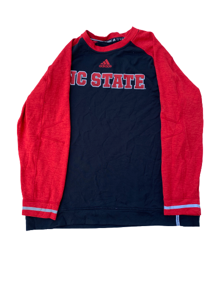 Tabari Hines NC State Team Issued Long Sleeve Shirt (Size XL)