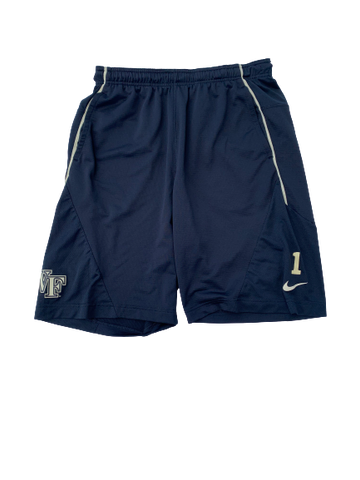 Tabari Hines Wake Forest Team Issued Shorts with Number (Size L)