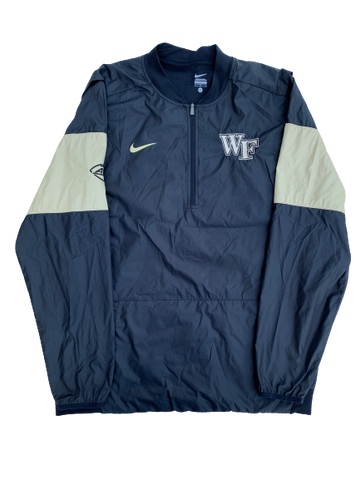 Tabari Hines Wake Forest Team Issued Quarter-Zip Windbreaker Pullover (Size L)
