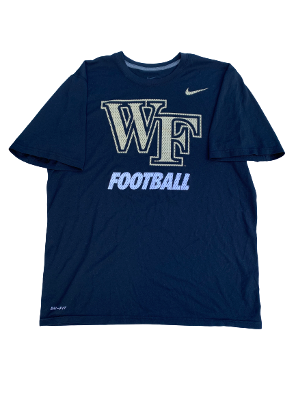 Tabari Hines Wake Forest Team Issued Workout Shirt with Number on Back (Size M)