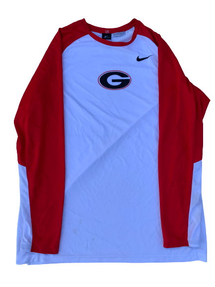 Mike Edwards Georgia Team Exclusive Pre-Game Warm-Up Shooting Shirt (Size XL)