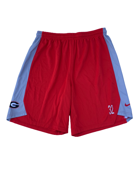 Mike Edwards Georgia Team Issued Practice Shorts with Number (Size XL)