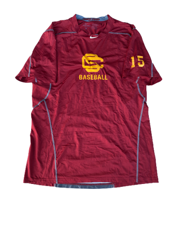 Corey Dempster USC Baseball Workout Shirt with Number on Sleeve (Size L)