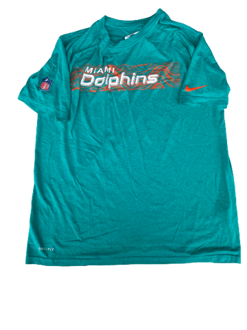 Trenton Irwin Miami Dolphins Team Issued Workout Shirt (Size L)