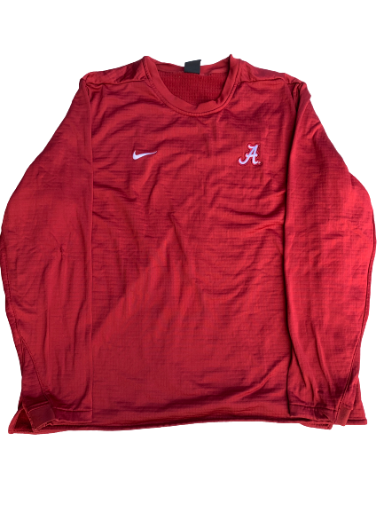 Matt Womack Alabama Team Issued Thermal Crewneck (Size XXL)